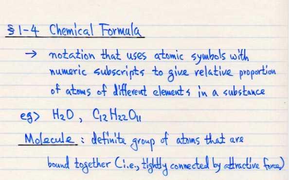 Chem 1511 Course Contents