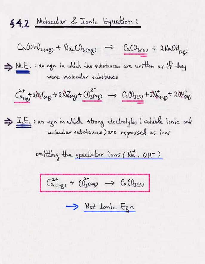 Net Ionic Equation Worksheet – Net Ionic Equations Worksheet