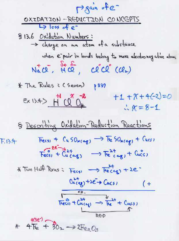 Chem 1211 Course Contents. Oxidationreduction Reactions Redox Concept. Worksheet. Worksheet Redox Reactions Answers At Clickcart.co