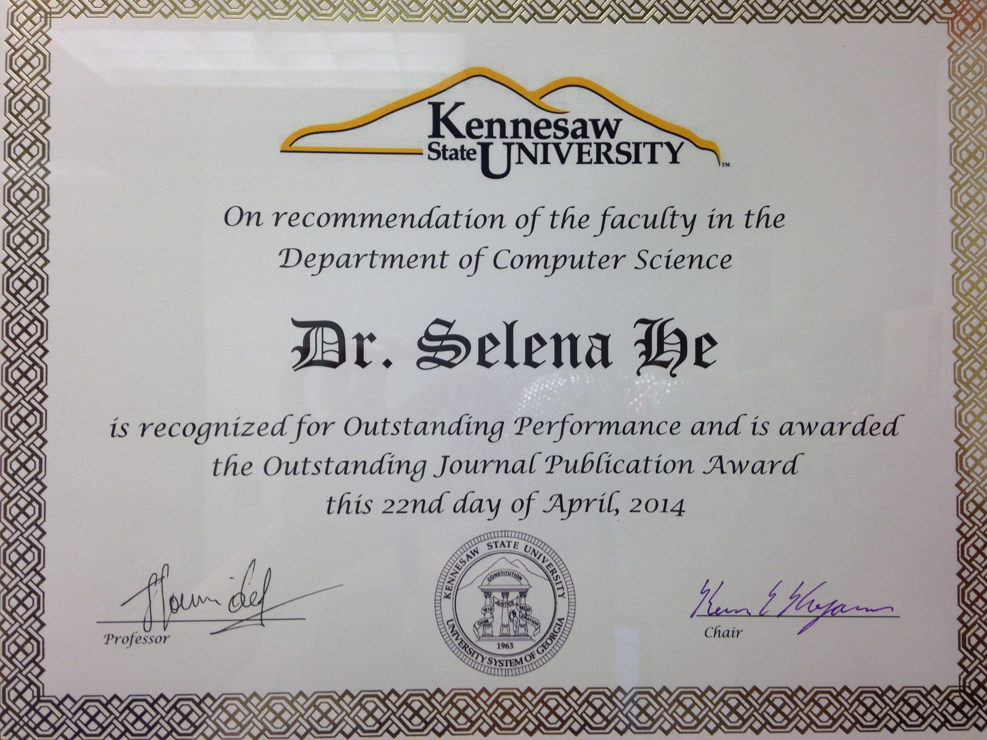 Jing hes home page at computer science dept of ksu outstanding journal publication award 1betcityfo Images